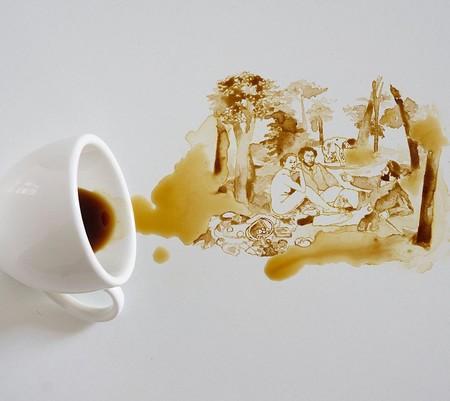 Giulia Bernardelli, la artista que sabe convertir en arte los posos del café