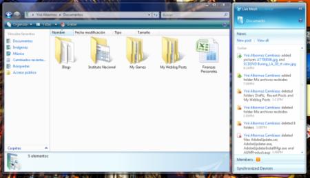 MeshBar en el Explorador de Windows