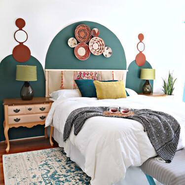 Antes y después: una habitación de matrimonio que se renueva con cambios centrados en el color