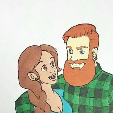 Para este ilustrador su novia es única. Y por eso le ha hecho hasta 10 retratos imitando estilos diferentes