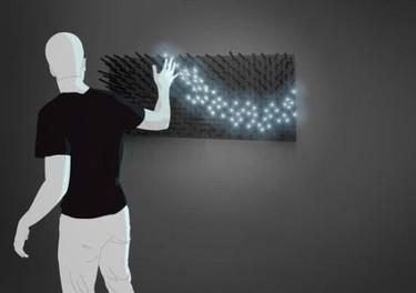 LEDs interactivos, se encienden al tocarlos