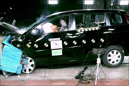 Mazda 5 - EuroNCAP frontal