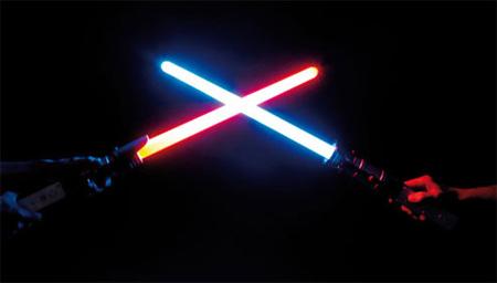 Sables Laser que se iluminan...¿el mejor Gadget para Wii?