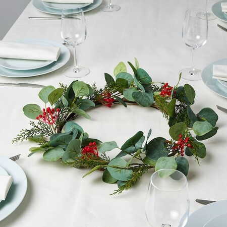 Smycka Corona Navidad Artificial Int Ext Eucalipto 0948740 Pe799256 S5