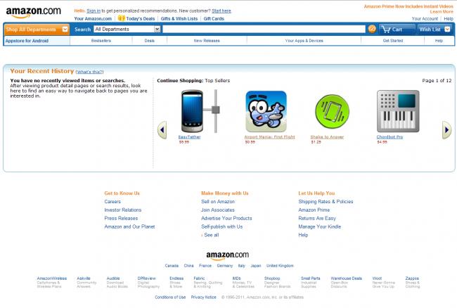 Amazon appstore aplicaciones android