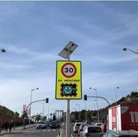 Los radares con emoticonos llegan a Benidorm: así es el cinemómetro que pone mala cara a los excesos de velocidad