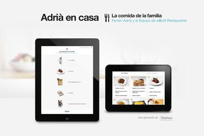 Adriá en casa. Nueva aplicación de recetas para IOS y Android