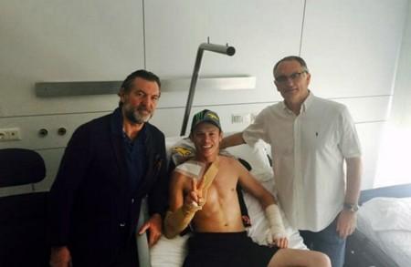 Tito Rabat se rompe la clavícula entrenando en Almería