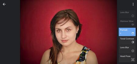 cómo usar ehrramientas de retrato en snapseed