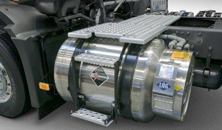 Metano-diésel en Volvo Trucks