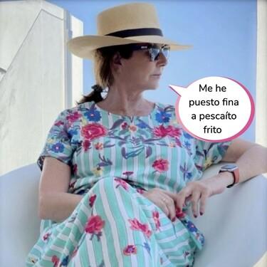 La vacaciones en Cádiz de Ana Rosa Quintana: con look playero, un sombrero monísimo y gafas al estilo Pantoja
