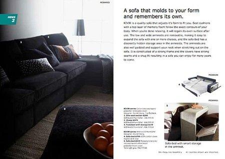 Sofá Kivik en el nuevo catálogo Ikea 2011