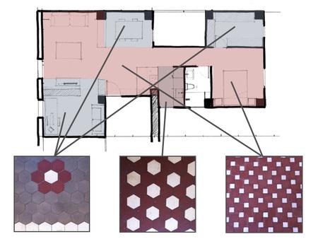 Distribución mosaicos