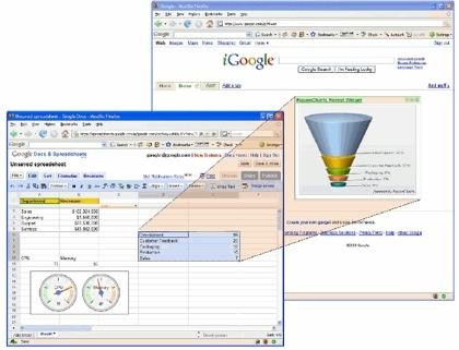 Novedades para Google Spreadsheets: gadgets y API