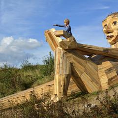 Foto 1 de 11 de la galería gigantes-madera-copenhague en Diario del Viajero