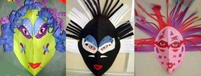 40a9d0bf21 Disfraces caseros  máscaras de papel