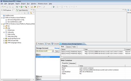 Utilizando el SDK de Windows Azure para PHP