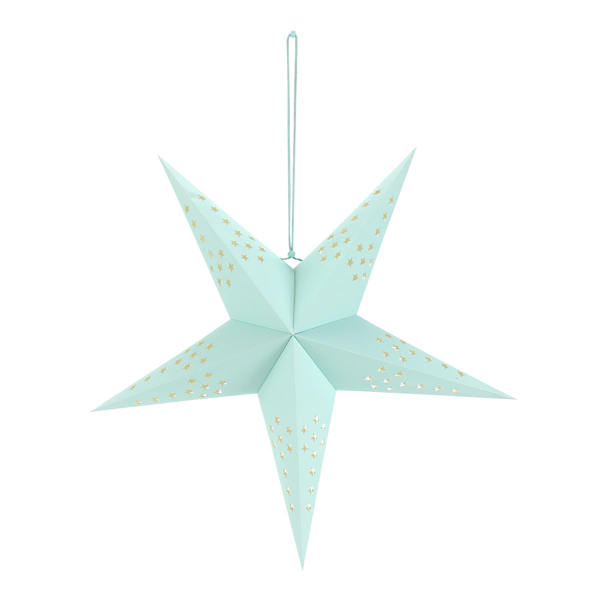 Lámpara de papel con forma de estrella