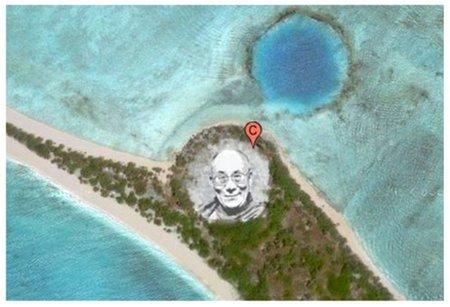 Transformando material radiactivo en un cuadro visible desde Google Earth