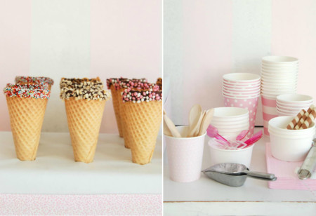 Así puedes montar en casa un sorprendente buffet de helados