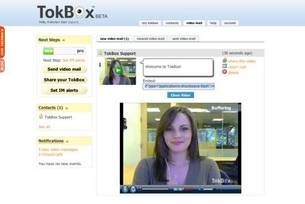 TokBox, videoconferencias y videocorreos vía web