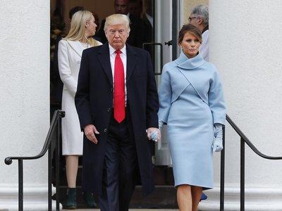 Melania Trump se convierte en primera dama con un look muy a la altura