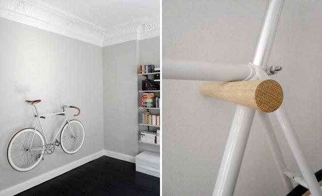 Cinco ideas para colgar la bici de un hipster for Como guardar bicis en un piso