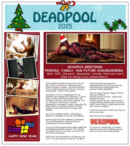 Carta navideña de Deadpool
