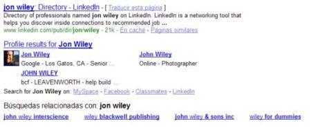 Los perfiles de usuario de Google ahora también en los resultados de búsquedas
