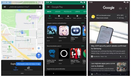 Google Apps Modo Oscuro