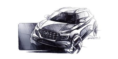 El Hyundai Venue sigue con teasers: estos bocetos nos adelantan su extrovertido diseño