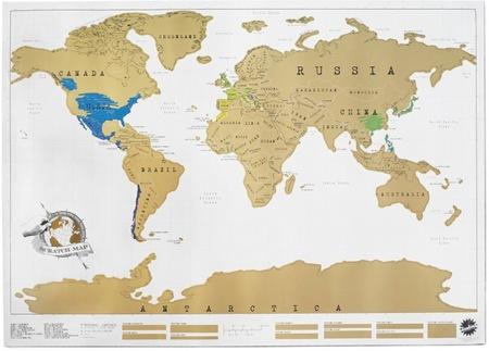 Un mapa que se tacha, perfecto para viajeros