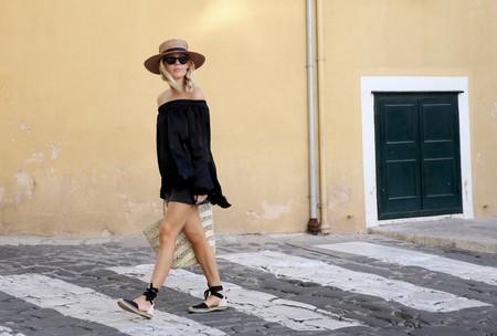 sombrero de paja look estilismo outfit street style