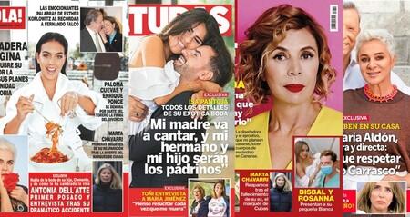 La boda de Isa Pantoja en el desierto, Georgina Rodríguez te enseña a comer Yatekomos y el nuevo churri de Begoña Villacís: estas son las portadas de la semana  del 28 de octubre