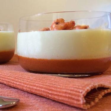 Vichyssoise con crema de gambas, receta de un clásico con vuelta de tuerca