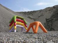 Atlas, un asiento alegre y divertido para exteriores