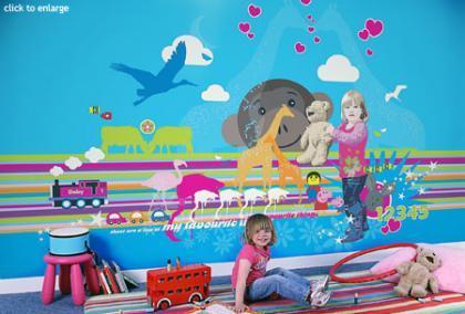 Murales personalizados para la habitación de los niños
