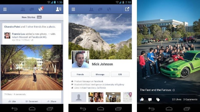 Facebook se acelera en el móvil: actualización de sus aplicaciones para Android y iOS centradas en la velocidad
