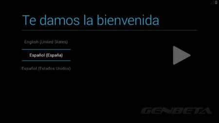 Android-x86, selección de idioma