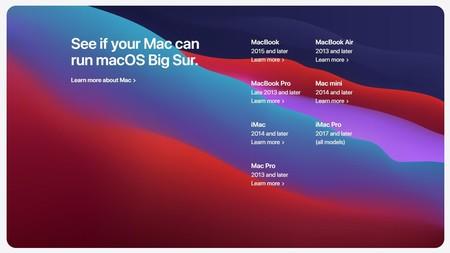 Macos Big Sur Compatibilidad Compatible Macs Modelos