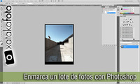 Cómo ponerle marco a un lote de fotos con Photoshop: Vídeo Screencast