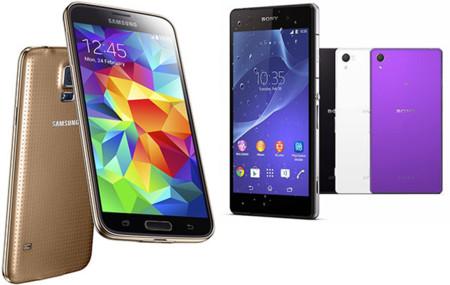 Samsung Galaxy S5 Sony Xperia Z2