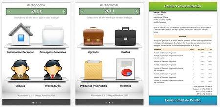 Autónomo, la aplicación para iOS pensada para los trabajadores por cuenta propia