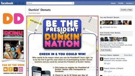 Dunkin' Donuts lanza campaña usando Foursquare y Facebook Places
