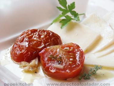 Confit de tomates. Receta