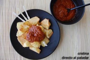 Patatas con salsa brava. Receta