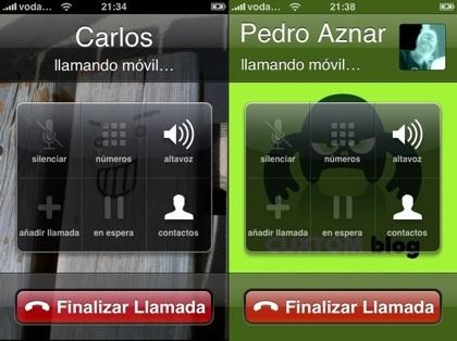 La foto de tus contactos en el iPhone a tamaño completo o reducido