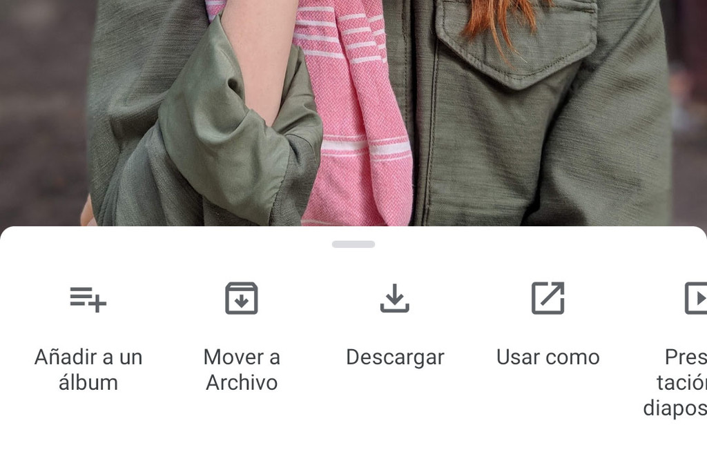 Google Photos for Android renews its menu of options integrated in the sliding panel of information