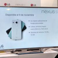 Nexus 5X llegará a España el 9 de noviembre con un precio base de 479 euros