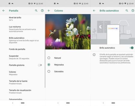 Opciones Pantalla Motorola One Vision